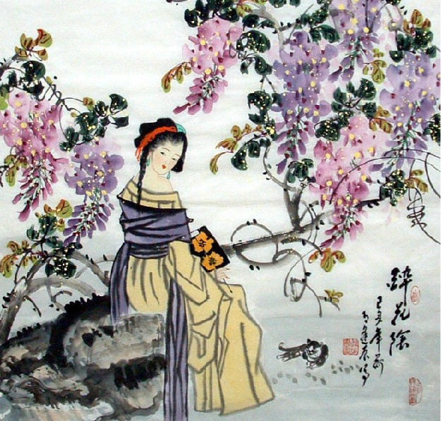 Beautiful Lady Chinese Painting