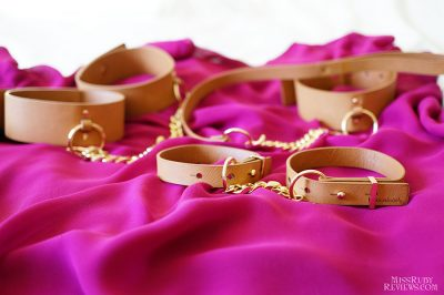 Bijoux Indiscrets Maze Choker, Wrist & Ankle Cuffs