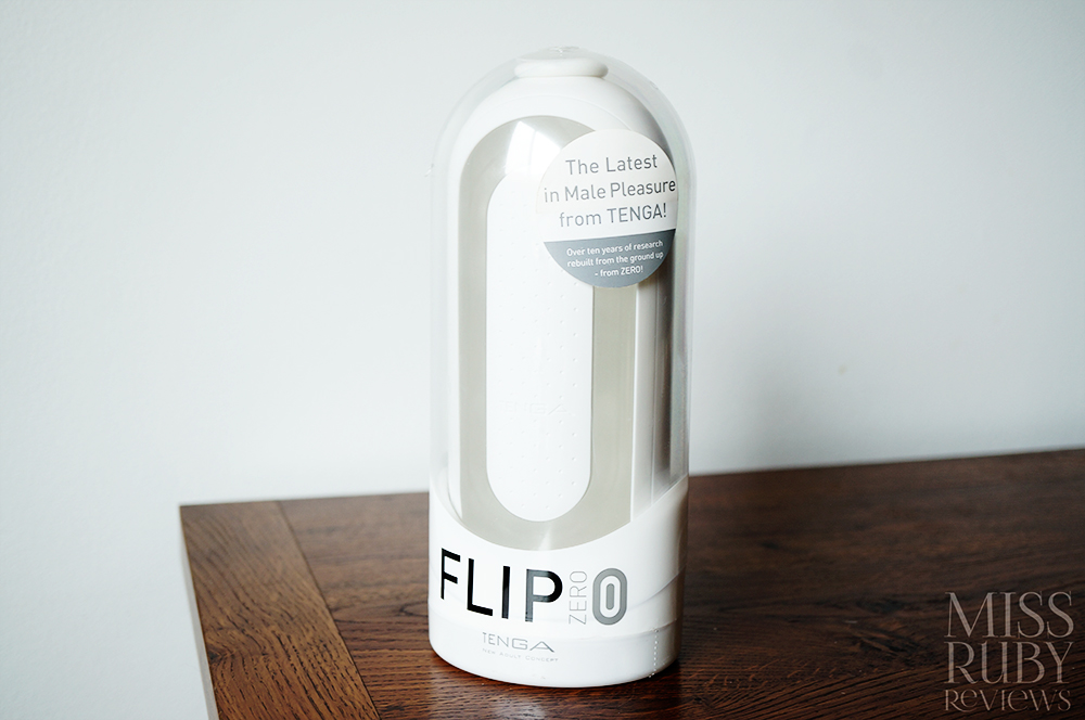 An image of the Tenga Flip 0 Zero packaging