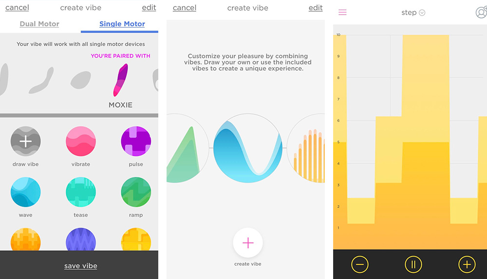 Screencaps of the We-Connect App